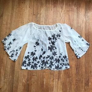 SALE! 5/$25 Love Culture Sheer Butterfly Blouse
